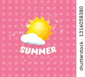 vector summer label with son... | Shutterstock .eps vector #1316058380