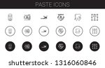 paste icons set. collection of... | Shutterstock .eps vector #1316060846