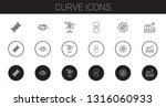curve icons set. collection of... | Shutterstock .eps vector #1316060933