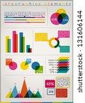 set elements of infographics  ... | Shutterstock .eps vector #131606144