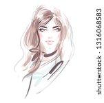hand drawn beautiful fashion... | Shutterstock .eps vector #1316068583