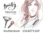 beauty blog fashion... | Shutterstock .eps vector #1316071169