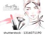 beauty blog fashion... | Shutterstock .eps vector #1316071190