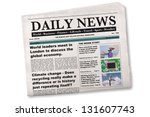 mock up of a daily newspaper on ... | Shutterstock . vector #131607743