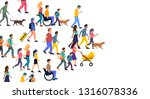 a large crowd of casual people... | Shutterstock .eps vector #1316078336