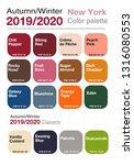 autumn winter 2019 2020  color...   Shutterstock .eps vector #1316080553