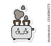 sticker of a cute cartoon of a... | Shutterstock .eps vector #1316084273
