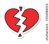 sticker of a cute cartoon...   Shutterstock .eps vector #1316086013