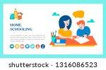 the concept of homeschooling.... | Shutterstock .eps vector #1316086523