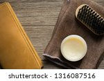 vintage genuine leather wallet... | Shutterstock . vector #1316087516
