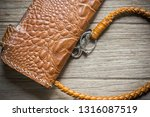 vintage genuine leather wallet... | Shutterstock . vector #1316087519