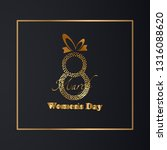 golden 8th march womens day... | Shutterstock . vector #1316088620