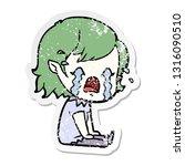 distressed sticker of a cartoon ...   Shutterstock .eps vector #1316090510