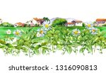 spring meadows around a rural... | Shutterstock . vector #1316090813