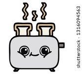 cute cartoon of a of a toaster | Shutterstock .eps vector #1316094563