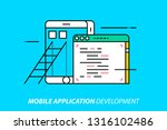 mobile application development. ... | Shutterstock .eps vector #1316102486