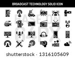 broadcast technology solid... | Shutterstock .eps vector #1316105609