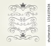 calligraphic graphic elements... | Shutterstock .eps vector #1316105636