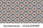 seamless geometric pattern. ... | Shutterstock .eps vector #1316109089