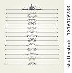 vintage calligraphic design... | Shutterstock .eps vector #1316109233