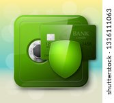 guarded safe box  credit card ... | Shutterstock .eps vector #1316111063