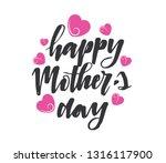 happy mother's day vector hand...   Shutterstock .eps vector #1316117900