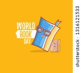 world book day greeting card... | Shutterstock .eps vector #1316121533