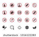 natural food flat glyph icons... | Shutterstock .eps vector #1316122283