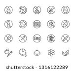 natural food flat line icons...