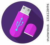 vector tech icon usb flash... | Shutterstock .eps vector #1316128496
