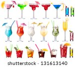 set of alcoholic cocktails... | Shutterstock . vector #131613140