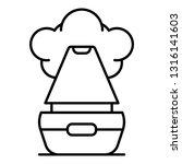 vapor humidifier icon. outline...   Shutterstock .eps vector #1316141603