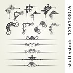 calligraphic design elements... | Shutterstock .eps vector #1316143076