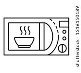 domestic microwave icon.... | Shutterstock .eps vector #1316150189