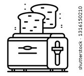 kitchen toaster icon. outline... | Shutterstock .eps vector #1316150210