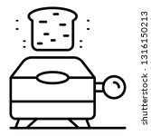 electric toaster icon. outline... | Shutterstock .eps vector #1316150213