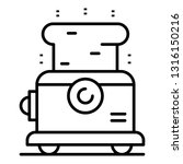 metal toaster icon. outline... | Shutterstock .eps vector #1316150216