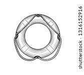 lifebuoy vector illustration on ... | Shutterstock .eps vector #1316152916