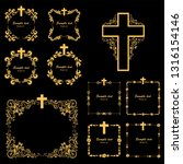 cross icons set. obituary... | Shutterstock .eps vector #1316154146