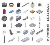 automotive parts accessories... | Shutterstock .eps vector #1316155229
