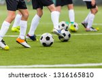 football soccer training drills ... | Shutterstock . vector #1316165810