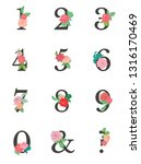 vector floral numbers. numbers... | Shutterstock .eps vector #1316170469