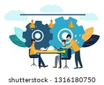 vector illustration  online... | Shutterstock .eps vector #1316180750