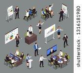 business coaching isometric... | Shutterstock .eps vector #1316181980