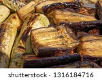 grilled eggplants and zucchini... | Shutterstock . vector #1316184716