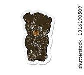 retro distressed sticker of a... | Shutterstock .eps vector #1316190509