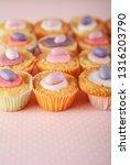 still life easter eggs children ... | Shutterstock . vector #1316203790