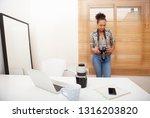 beautiful african american... | Shutterstock . vector #1316203820