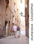rear view of mature tourist... | Shutterstock . vector #1316203910