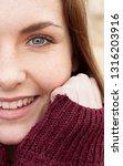 close portrait of beautiful... | Shutterstock . vector #1316203916